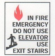 Image 0 of FSICF-67-E IN CASE OF FIRE SIGN 6X7