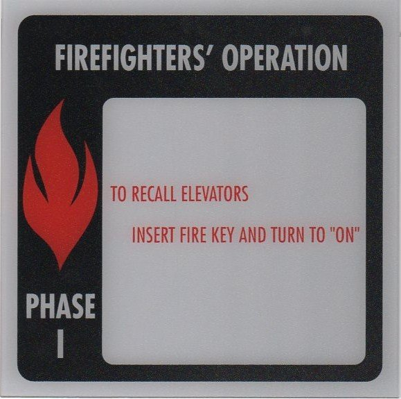 Image 0 of FSP1-A PHASE I FIRE SIGN 6X6