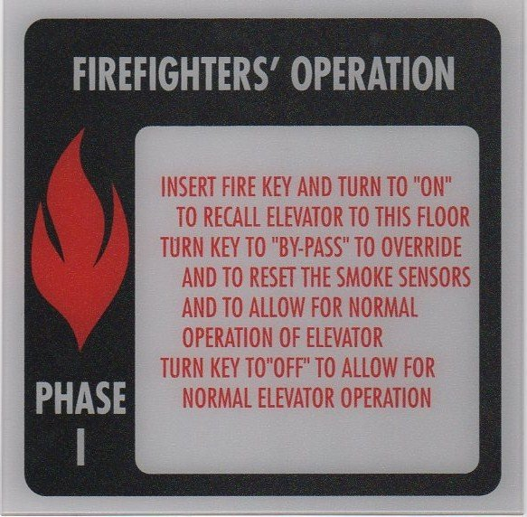 FSP1-B PHASE I FIRE SIGN 6X6