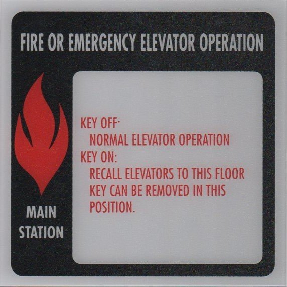 Image 0 of FSP1-B225 PHASE I FIRE SIGN MAIN STATION 6X6