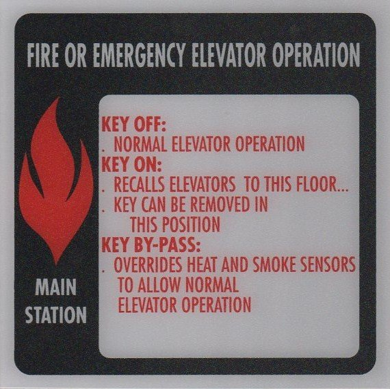 Image 0 of FSP1-D224 PHASE I FIRE SIGN MAIN STATION 6X6
