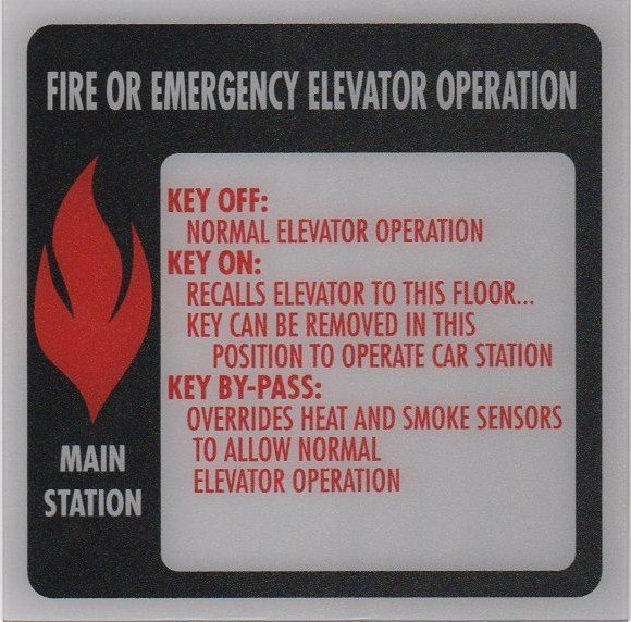 Image 0 of FSP1-FS PHASE I FIRE SIGN MAIN STATION 6X6
