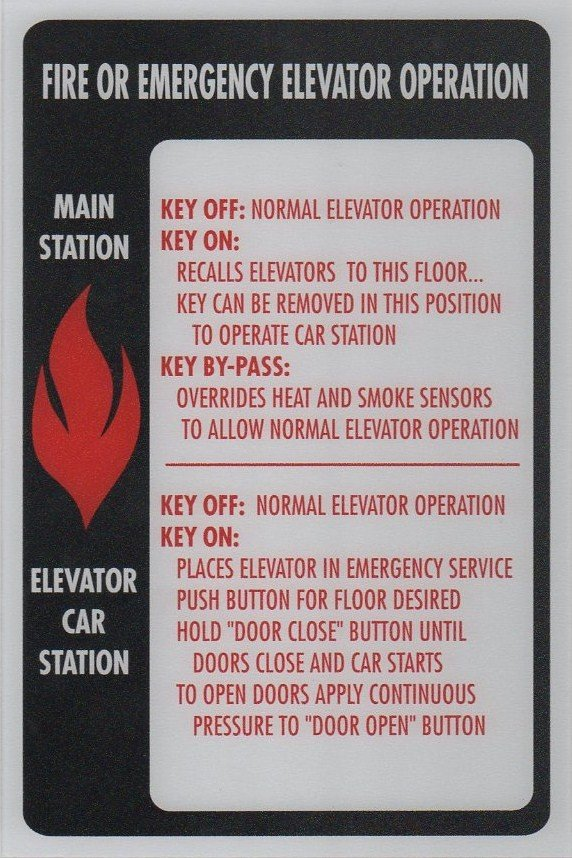 FSP1-W PHASE I FIRE SIGN MAIN STATION/CAR STATION 6X9