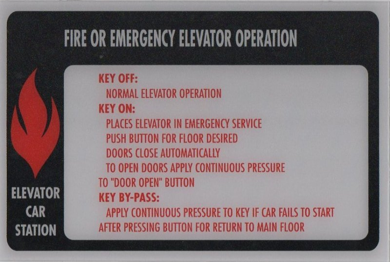 FSP2-96 PHASE II FIRE SIGN CAR STATION 9X6