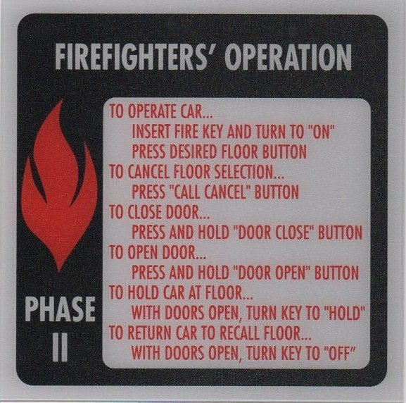 Image 0 of FSP2-A PHASE II FIRE SIGN 6X6