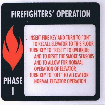 FSP1-B-RESET PHASE I FIRE SIGN 6X6