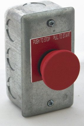 Image 0 of PS-PP1S-2C Elevator Pit Switch Pushbutton, Push to Stop/Pull to Run, 2 contacts