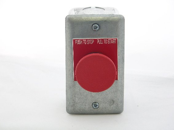 Image 1 of PS-PP1S-2C Elevator Pit Switch Pushbutton, Push to Stop/Pull to Run, 2 contacts
