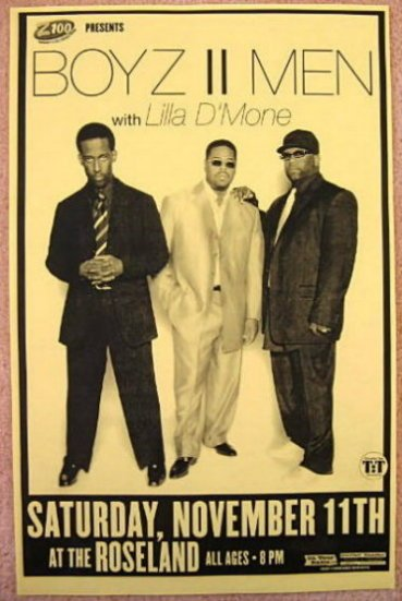 Image 0 of BOYZ II MEN 2006 Gig POSTER Portland Oregon Concert