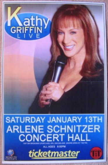 Image 0 of Griffin KATHY GRIFFIN 2007 Gig POSTER Portland Oregon Comedy