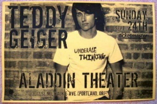 Geiger TEDDY GEIGER 2006 Gig POSTER Portland Oregon Concert