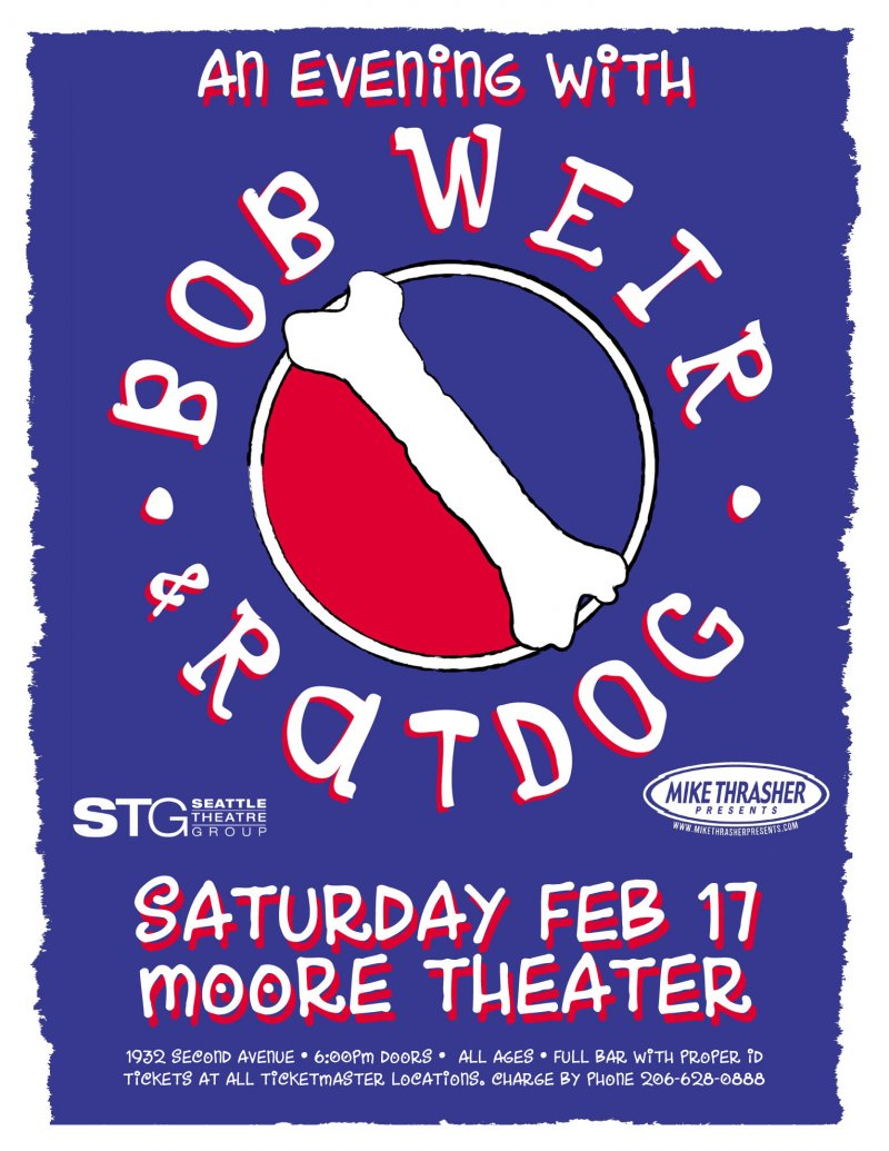 Image 0 of Weir BOB WEIR & RATDOG Gig POSTER 2007 Grateful Dead Seattle Washington Concert