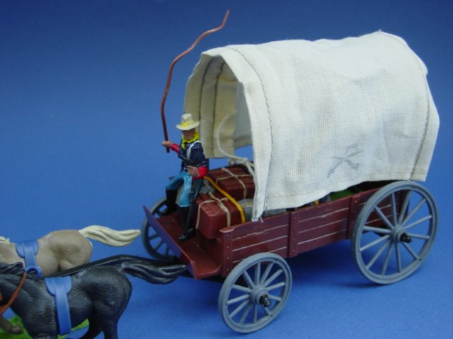 Britains Deetail DSG Toy Soldiers 7th Cavalry Covered Wagon