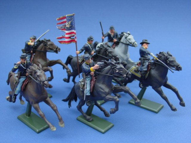 Britains Super Deetail Union 20th Massachusetts Cavalry Civil War Toy Soldiers