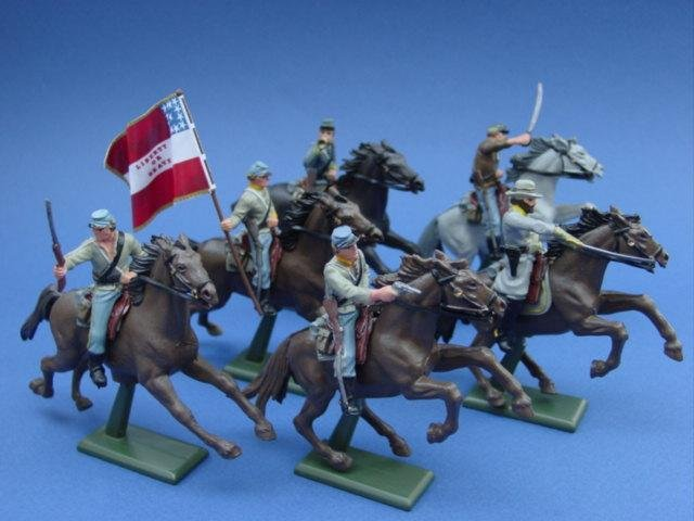 Britains Super Deetail Confederates General JEB Stuart's Cavalry Civil War Toy Soldiers