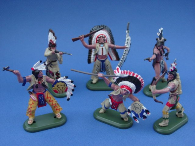 Britains Super Deetail Indian Toy Soldiers Warriors