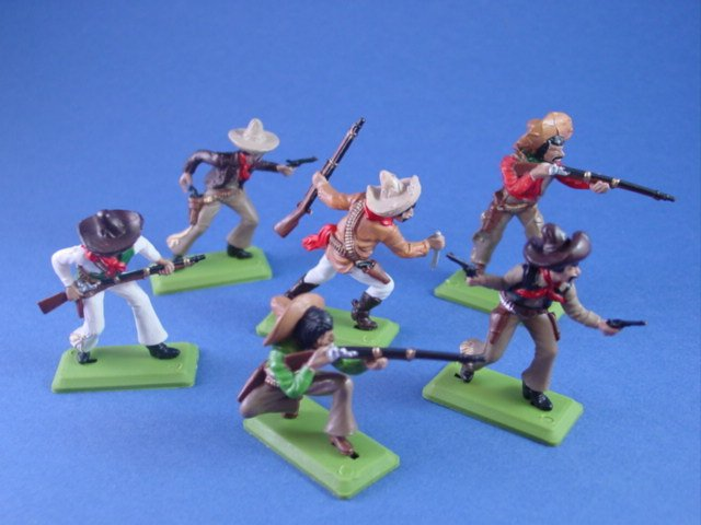 Britains Deetail DSG Toy Soldiers Wild West Mexican Bandits