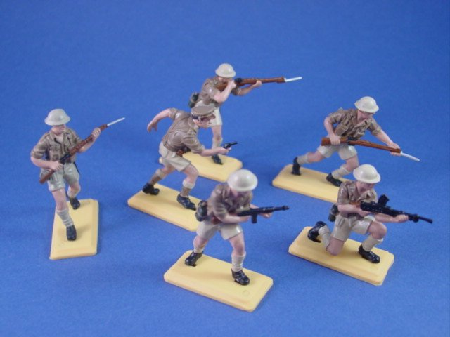 Britains Deetail DSG Toy Soldiers British 8th Army Desert Rats