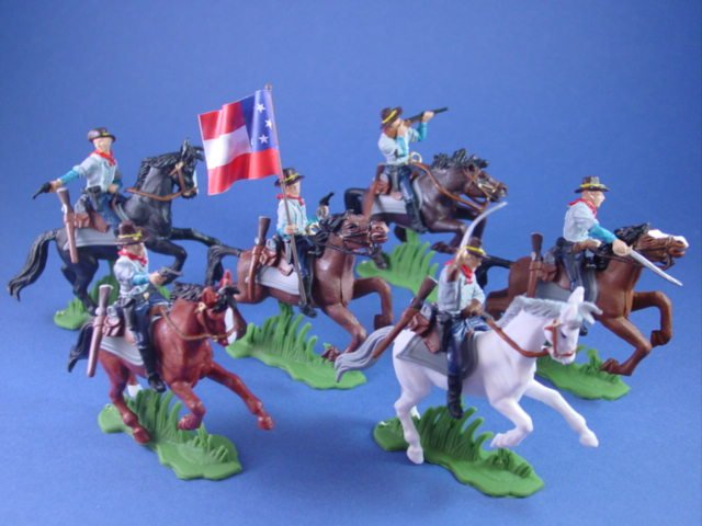 Britains Deetail DSG Toy Soldiers Confederate Flag Bearer with Second CSA Flag