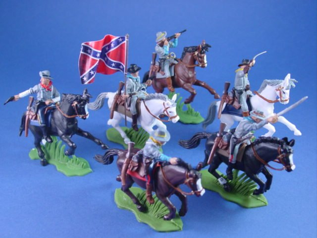 Britains Deetail DSG Toy Soldiers Confederate 3rd Tennesse Cavalry Flag Bearer