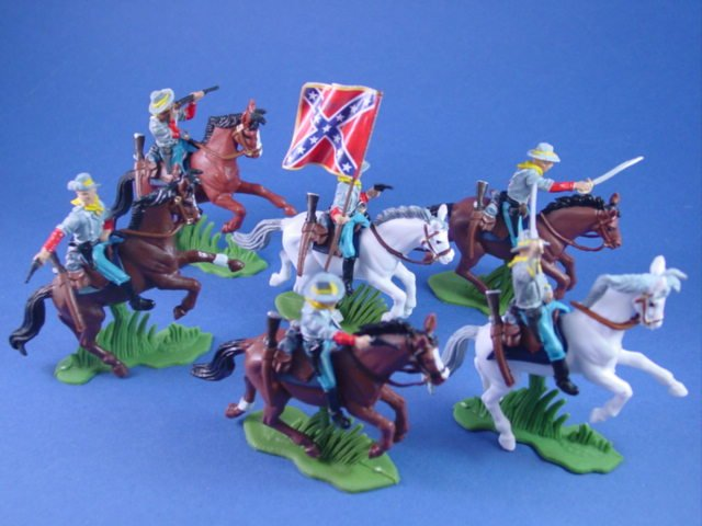 Britains Deetail DSG Toy Soldiers Confederate Flag Bearer