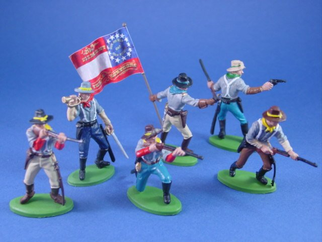 Britains Deetail DSG Toy Soldiers Confederate 20th Texas Cavalry on Foot