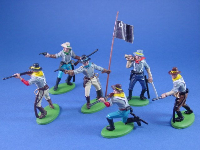 Britains Deetail DSG Toy Soldiers Confederate Quantrill's Raiders with Quantrill Battle Flag