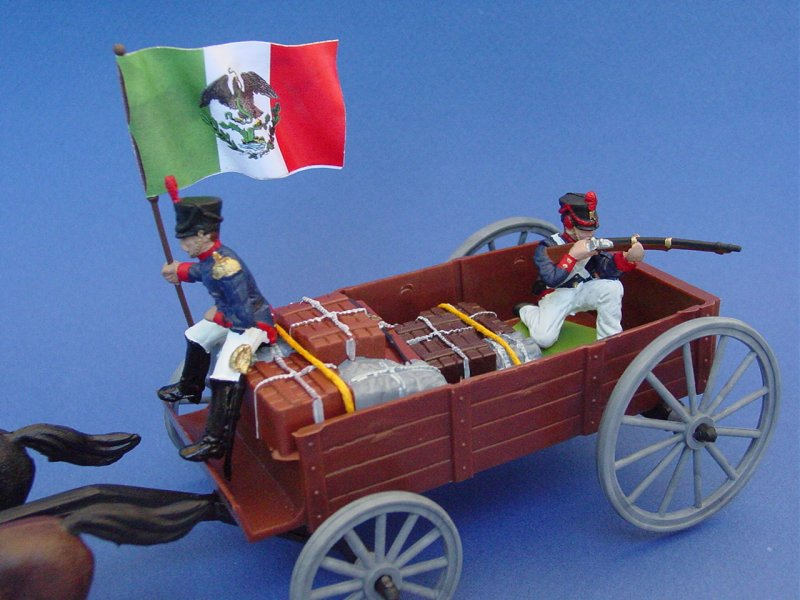 Britains Deetail DSG Toy Soldiers Battle of the Alamo Mexican Army Supply Wagon