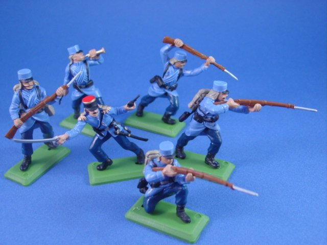 Britains Deetail DSG Toy Soldiers Special Custom Set WWI French Infantry