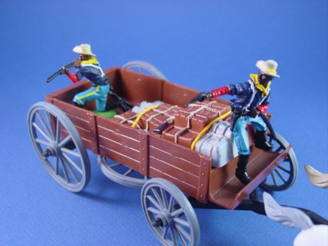 Britains Deetail DSG Toy Soldiers US 10th Cavalry Buffalo Soldiers Supply Wagon